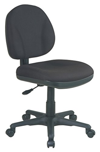 Office Star Sculptured Thick Padded Seat and Back with Built-in...