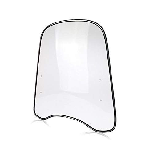 ACYY Alerón universal para parabrisas de motocicleta, borde ampliado, deflector de viento, parabrisas de motocicleta, parabrisas