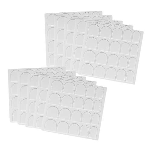MagiDeal 10 Feuilles Autocollants à Ongles Double Face en Papier Nail Art - blanc