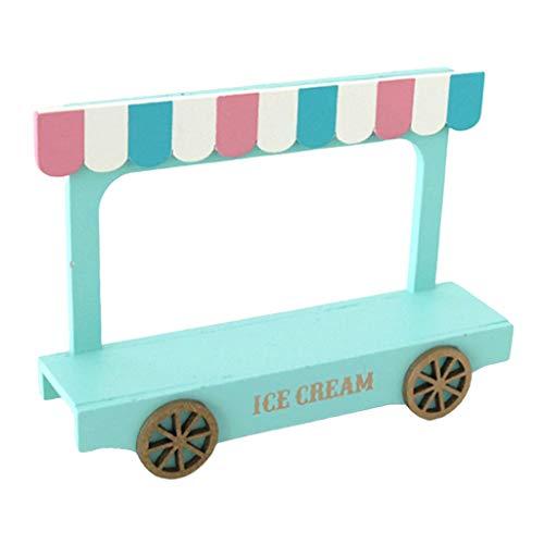 Hellery Casa de Juegos Juguetes Muebles en Miniatura Furgoneta de Helado para decoración de casa de muñecas