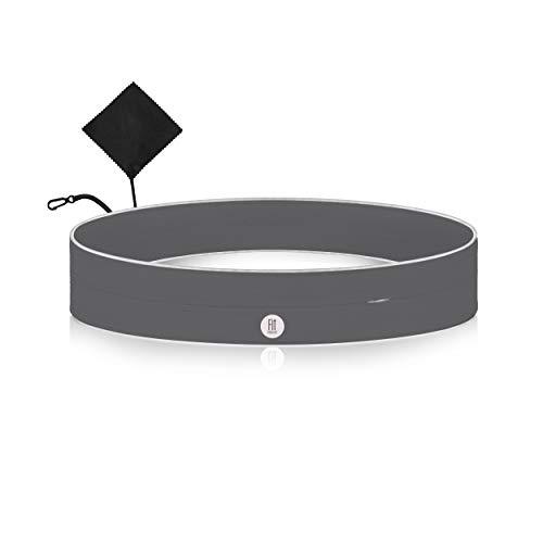 FitFeelsFun® cinturón Running Estrecho con Bolsillo Cremallera - riñonera para Correr Hombre Mujer