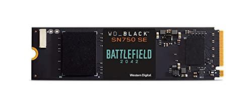 WD_BLACK SN750 SE 500 GB NVMe SSD Battlefield 2042 PC Game Code Bundle, mit Lesegeschwindigkeiten von bis zu 3600MB/s