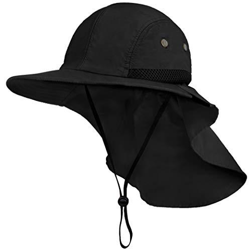 Fishing Hat with Neck Flap, Sun Protection Hiking Hat for Men Women Safari Cap