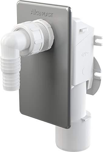 Hochwertiges Unterputzsiphon -Unterputz-Siphon für Waschmaschine, Waschmaschienenanschluss-ALCA-chrom