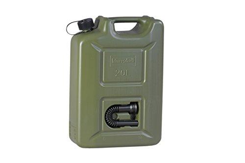 ヒューナースドルフ Hunersdorff 燃料タンク ウォータータンク [ 安心の正規品 保証付 ]ポリタンク フューエルカンプロ 20L 燃料 ホワイトガソリン 灯油 タンク キャニスター キャンプ (olive)