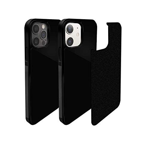 CloudValley Anti Gravity Phone Case for iPhone 12/12 Pro (6.1 inch), Goat Case, Magical Nano Technology, Stick to Glass, Tile Wall, Smooth Flat Surface with Dust Proof Film, Free Hands