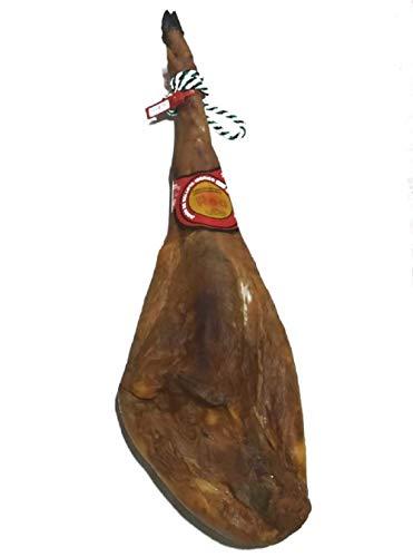 Jamón Ibérico de Bellota Etiqueta Roja 75% Raza Ibérica (7,5kg – 8kg) | Jamón Curado Pata Negra de Cerdos Criados en la Dehesa de Extremadura al Aire Libre con Bellotas | Calidad Suprema
