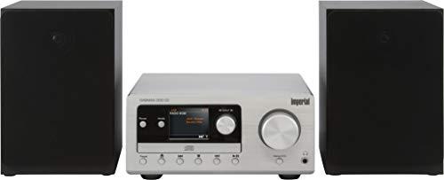 IMPERIAL DABMAN i300 CD - Mikro HiFi Stereo System mit (DAB, DAB+, FM, Internetradio, UPNP, CD Player, Bluetooth, Lautsprecher) Kompaktanlage Silber