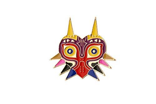 Broches de la leyenda de Zelda, alfileres de juego de máscara, alfileres de esmalte dorado, accesorios de cosplay de anime, alfileres bonitos