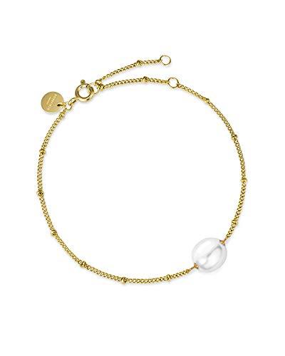 Rosefield De Jane Vloeibare Parel Armband - Goud JPBG-J180