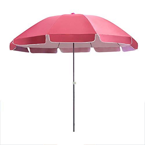 Parasol LCYXM De Plage Ø2.4m, De Jardin De Patio, Nervures De Parapluie en Acier À Trois Couches, Hauteur Réglable, Protection Contre La Pluie Et Le Soleil, pour Plage/Piscine/arrière-Cour/t