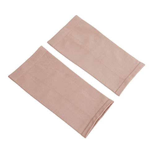 Flybloom Thigh Support Sleeves 1 Pair Elastic Compression Slimming Thigh Leg Shaper Sleeve Varicose Veins Support Socks,Skin Color