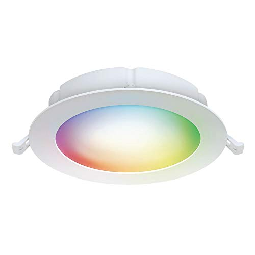 """Feit Electric LEDR6XT/RGBW/CA/AG 6"""" 65 Watt Equivalent WiFi Color Changing, Tunable White, No Hub Required, Alexa or Google Assistant, No Hub Required LED Smart Canless Retrofit Recessed Downlight Kit"""