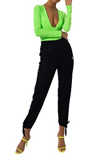 adidas Originals Pantalón de chándal para mujer - Negro - X-Large