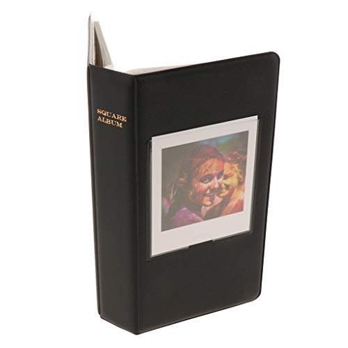 F Fityle Mini Fotoalbum Sammelalbum Einsteckalben für Fuji SQ20/SQ10/SQ6/SP Filmkamera - Schwarz