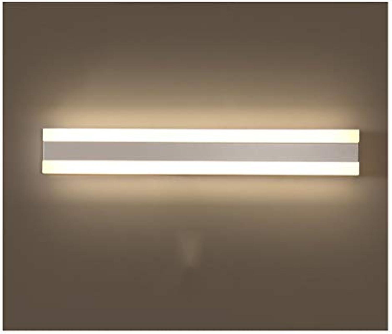 YliJkeT LED-Spiegel Scheinwerfer, Einfache Moderne Make-Up Lampe Spiegel Licht Mode Badezimmerspiegel Licht Wasserdichte Anti-Fog Bad Lampen (Farbe   Warmes Licht, gre   40cm)