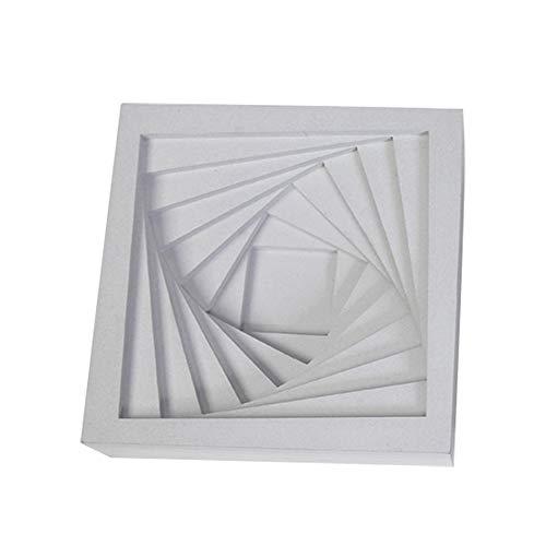 WQYHG Cement Asbak Eenvoudige Vierkante Roterende Ladder Woon/Kantoorbenodigdheden Decoraties/Geschenken, 14 * 14 * 4 cm/10 * 10 * 3,5 cm