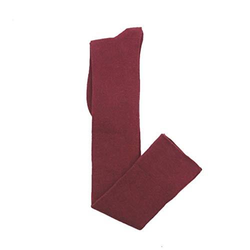 Y&L Frauen Mädchen Basic-Schenkel-Hohe Socken, Stretch-Overknee-Strümpfe Weihnachten-Geschenke-Wein-Rot