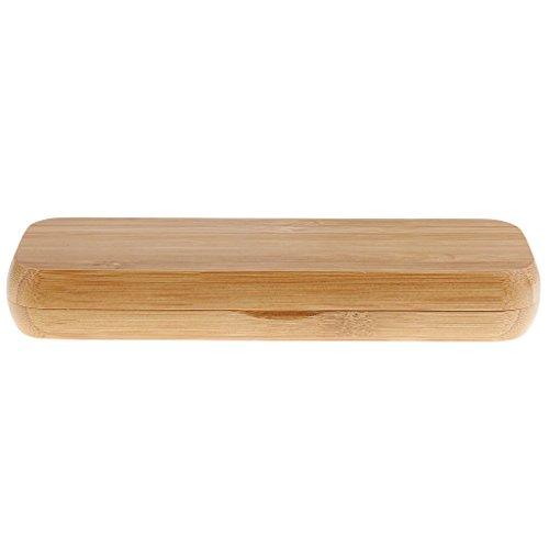 Bambus Füllfederhalter Display Box Fall Kugelschreiber Container Geschenk 2 Pen Slot