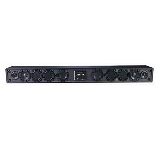 YQQWN TV Barra de Sonido, inalámbrico y por Cable Bluetooth 4.0 Barra de Sonido, una función de 10 Unidades de Sonido Sound Bar (USB Incluido, el Control Remoto, Bajo Ajustable y Montaje en Pared)