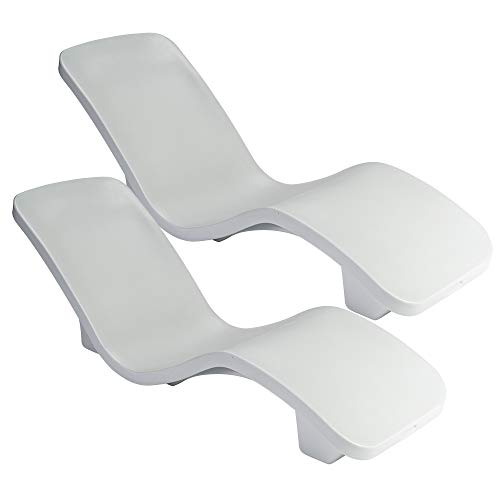 S.R.Smith RS-1-2-2PK R-Series, 2-pk Pool Lounger, 2-Pack, White