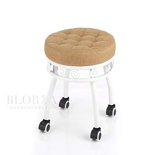 AI XIN Metallrunder Rollstuhl for Geschäft, moderner Drehhocker for Büro-Schreibtisch-Ausgangsküchen-Massage-medizinischen Salon-Künstler, Retro- Schmiedeeisenmultifunktionsentwurfssalonhocker