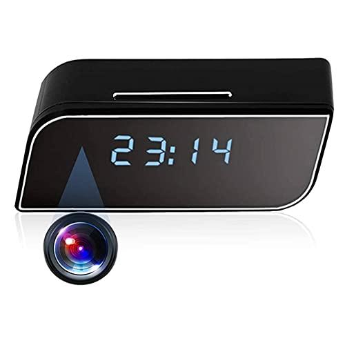Reloj De Cámara Oculta HD 1080P Cámaras De Espía WiFi Inalámbrico WiFi Niñera Alarma Video Grabador De Video En Tiempo Real con Visión Nocturna/Detección De Movimiento/Grabación De Bucle para La V