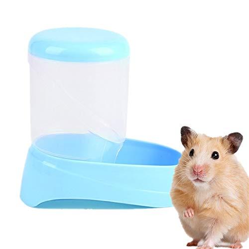 WESEEDOO Futterautomat Heimtierbedarf Kleintiere Futterspender Hamster Kaninchenfutter Spender Meerschweinchen-Futternapf Eichhörnchen-Zufuhr Blue