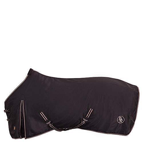 BR Abschwitzdecke Classic aus Baumwollmischgewebe abnehmbare Kreuzgurte (155 cm, schwarz)
