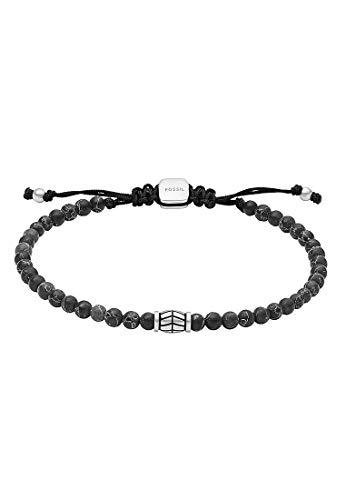 Fossil JF03406040 Bracelet pour homme en acier inoxydable Argent 27 cm