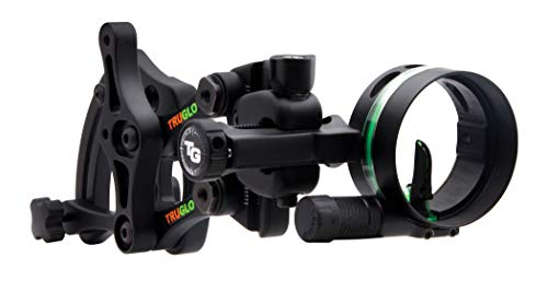 """TRUGLO RANGE-ROVER Series Single-Pin Moving Bow Sight, Black, Right-Handed, .019"""" Pin, Click Windage Adjustment"""