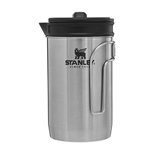 Stanley Adventure All-in-One Boil + Brew camping french press, 32 oz, Silver