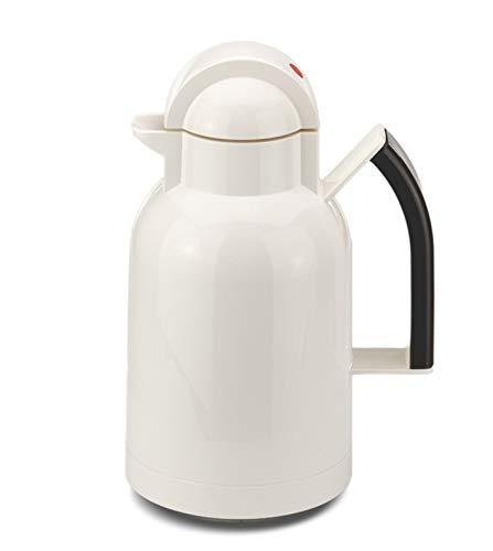 ROTPUNKT Isolierkanne 250 ANA 1,0 l | Zweifunktions-Drehverschluss | BPA Frei- gesundes Trinken | Made in Germany | Warm + Kalthaltung | Glaseinsatz | White/Slate Grey