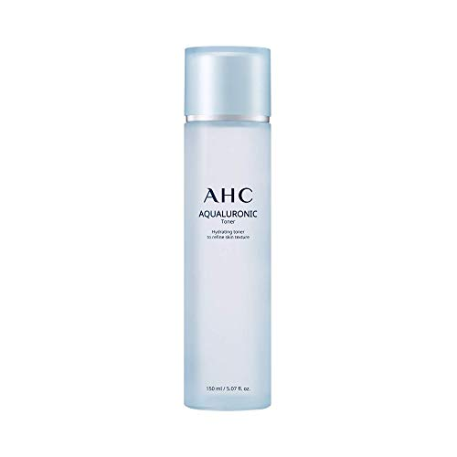 Aesthetic Hydration Cosmetics AHC Toner for Face Aqualauronic Hydrating Skin for Dehydrated Skin Triple Hyaluronic Acid Korean Skincare 5.07 oz