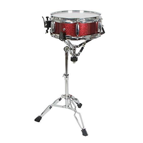 No band LangYe Grupo de percusión Tambor Soportes 10 12 14 Pulgadas fácil de Llevar, Galvanizado, Altura Ajustable for Estudiantes Profesionales