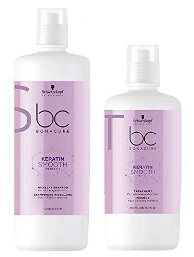 Schwarzkopf BC Bonacure Smooth Perfect Duo shampoing 1000 ml + Masque 750 ml