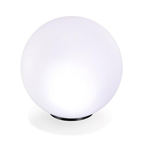Solar Leuchtkugel 50cm 7 Lichtfarben Dauerlicht oder Wechsellicht 8 Std. Leuchtdauer Solarleuchte esotec 102612