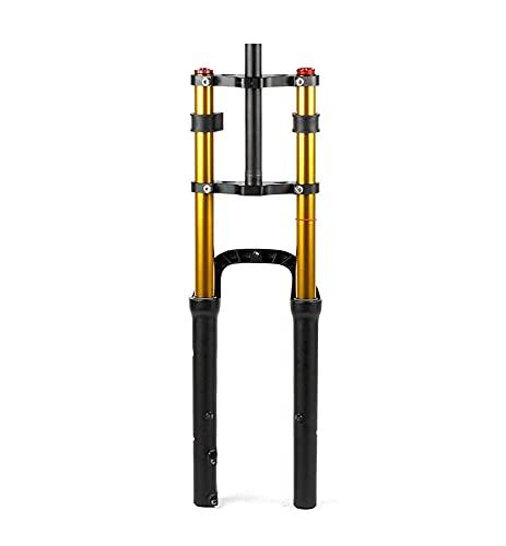 ZHAOJ 26 en la Horquilla Delantera MTB Bicicleta eléctrica Suspensión Horquilla Freno de Disco Amortiguador de Aire 1-1/8 Steerer 170mm Travel QR para 4.0'Fat Tire