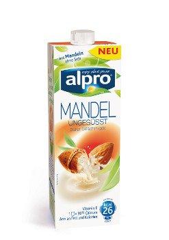 Alpro Mandel Drink ungesüsst - 8 x 1 l laktosefrei, vegan