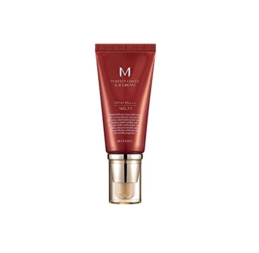 美的推測素晴らしい良い多くのMISSHA M Perfect Cover BB Cream No.23 Natural Beige SPF42 PA+++ (50ml)