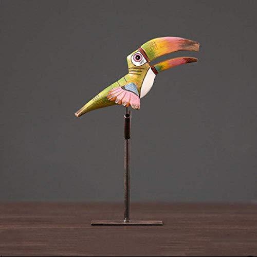 L-YINGZON Estatuas pájaro Decoraciones del Arte del Arte.Inicio salón Oficina Enfriador de Vino Porche TV estantería decoración Estudio 1 La decoración del hogar Presente para los Amigos