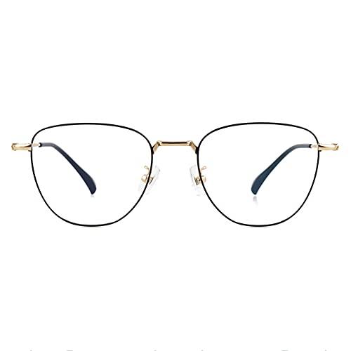 HQMGLASSES Gafas de Lectura fotocrómica multifocal progresiva de Las señoras, Marcos de Metal Lentes de Resina HD Gafas de Sol al Aire Libre Diopter +1.0 a +3.0,Oro,+1.25