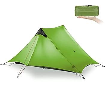 KIKILIVE Nouvelle LanShan Tente de Camping ultralégère pour Une Utilisation en extérieur, 1 Personne / 2 Personnes Légères Camping Tente, pour Le la randonnée et la randonnée (Double Green)