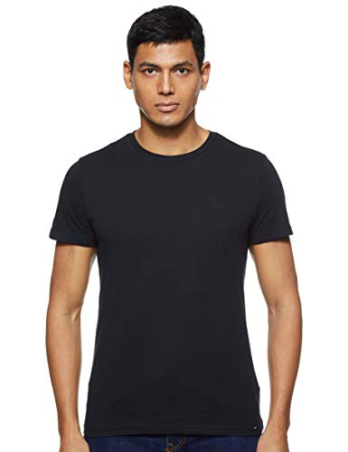 Lee Twin Pack Crew Camiseta, Negro (Black Ai01), Small 2 par