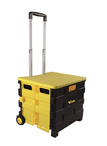 Vigor Quick Trolley Werkzeugwagen, zusammenklappbar, 45 x 38 x 98 cm