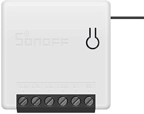 Sonoff Mini Smart Switch Control remoto inalámbrico Compatible con Amazon Alexa y el Asistente de Google IFTTT Nest DIY Su hogar a través de la aplicación para Android iPhone API REST TASMOTA ESPHOME