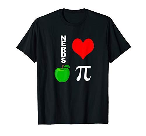 Nerds Love Apple Pie Funny Math Pun Pi Teacher T-Shirt