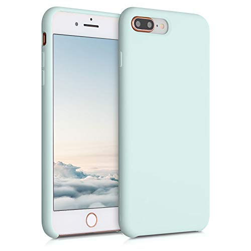kwmobile Carcasa Compatible con Apple iPhone 7 Plus / 8 Plus - Funda de Silicona para móvil - Cover Trasero en Menta Helada