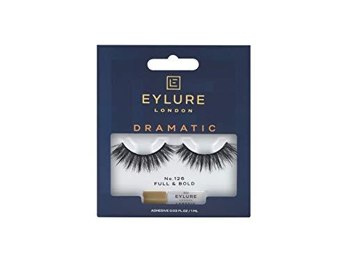 Eylure Dramatic False Lash, Style No. 126, Reusable, Adhesive Included, Black , 1 Pair