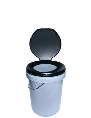 Leisurewize Need-A-Loo Portable Toilet, Bucket-Style Toilet With Carry Handle, 32cm x 37cm (LWACC310)